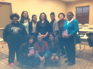 With Bennett College students (and my mom!) after my lecture.
