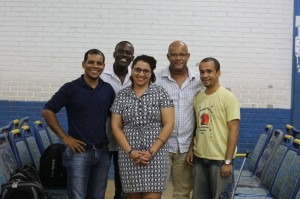 Picture with Staff of Quilombo Ilha after my talk (Itaparica Island, Bahia, Brazil)